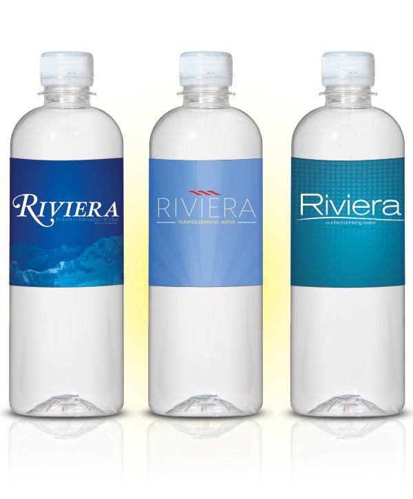 Riviera Beverage Water Bottle Labels