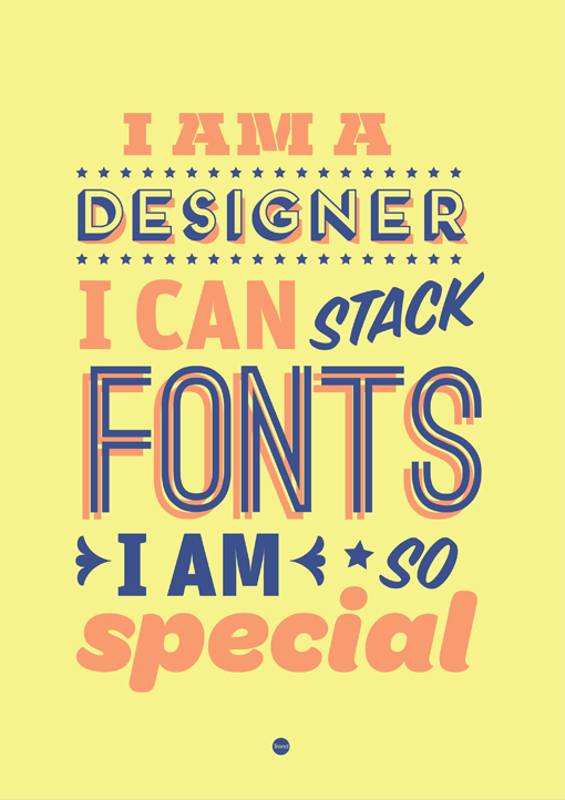 Shen Noticed The These Trends Going On In Graphic Design And She Decided To Make Her Own Funny Typographic Posters