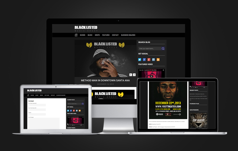 blacklisted-musicgroup-website